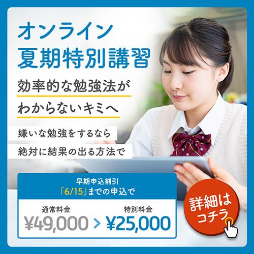 【最大48%OFF】 オンラインコース対象 夏期特別講習実施中!